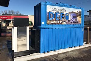 c store and truck stop def handling equipment kleerblue solutions def storage and dispensing. Black Bedroom Furniture Sets. Home Design Ideas